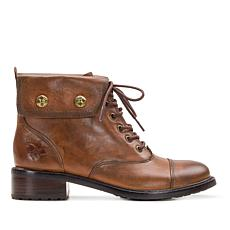 Patricia Nash Lia Leather Lace-Up Boot