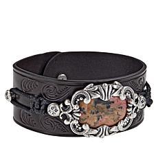 """Patricia Nash Lucinda Leather Strap 8-3/4"""" Bracelet"""