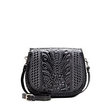Patricia Nash Metauro Tooled Leather Saddle Bag