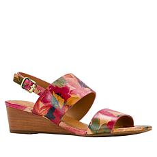 cd7d8030bedb Patricia Nash Mirella Leather Slingback Wedge Sandal
