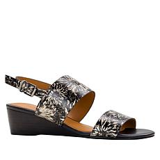Patricia Nash Mirella Leather Slingback Wedge Sandal