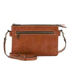 Patricia Nash Moscava Leather Double-Zip Crossbody