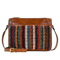 Patricia Nash Nazaire Beaded Leather Crossbody Bag