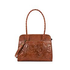 Patricia Nash Paris Tooled Leather Satchel