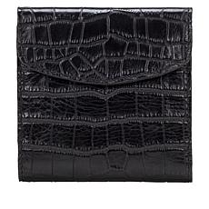 Patricia Nash Reiti Leather Croco-Embossed Frame Wallet