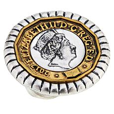 Patricia Nash Round Coin-Design Ring