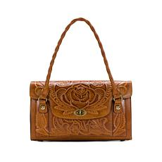 Patricia Nash Sanabria Tooled Leather Satchel