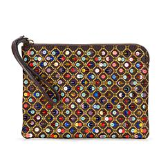 Patricia Nash Sequined Leather Cassini Wristlet