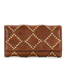 Patricia Nash Terresa Diamond Stud Leather Wallet with RFID