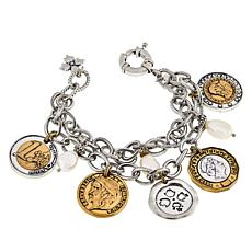 Patricia Nash World Coin Double-Strand Dangle Bracelet