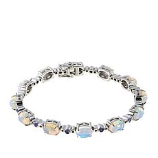 Paul Deasy Gem Ethiopian Opal and Tanzanite Line Bracelet