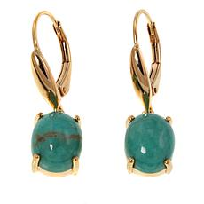 Paul Deasy Gem Gold-Plated Tyrone Turquoise Drop Earrings