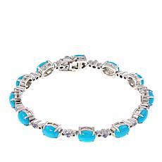 Paul Deasy Gem Kingman Turquoise and Tanzanite Line Bracelet