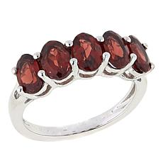 Paul Deasy Gem Oval 5-Stone Sterling Silver Band Ring