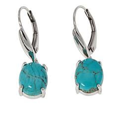 Paul Deasy Gem Sterling Silver #8 Turquoise Drop Earrings