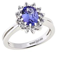 Paul Deasy Gem Sterling Silver Tanzanite and White Topaz Ring