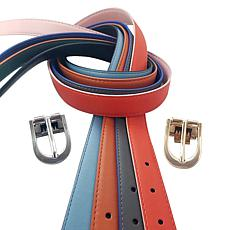 Perfect Match Women's 4-pack Reversible Leather Belt Set