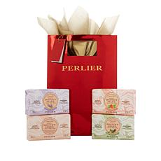 Perlier 4-piece Solid Soap Set with Gift Bag