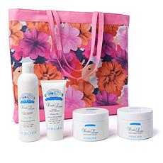 Perlier Double Latte 4-piece Kit with Floral Tote