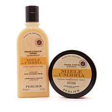 Perlier Honey from Umbria 2-piece Bath and Body Set