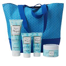 Perlier Lily of the Valley 4-piece Kit with Woven Tote Bag