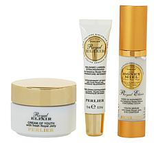 Perlier Royal Elixir Eye, Lip & Face 3-piece Set