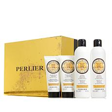 Perlier Shea Apricot 4-piece Bath and Body Set with Box