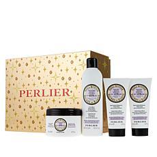 Perlier Shea Lavender 4-Piece Holiday Set
