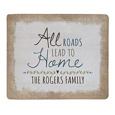 Personal Creations Personalized All Roads Lead to Home Plush Blanket