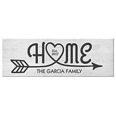 Personal Creations Personalized Home Arrow Canvas
