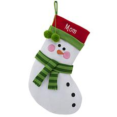 "Personalized 20"" Cotton/Poly Blend Stocking - Snowman"