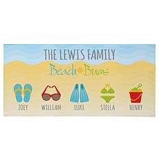 "Personalized ""Beach Bums"" Beach Towel - 30"" x 60"""