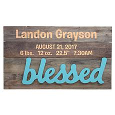 """Personalized """"Blessed Baby"""" Wood Pallet Wall Art"""