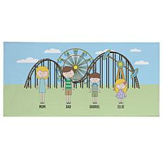 Personalized Family Vacation Beach Towel - Amusement Park
