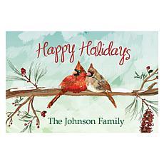 "Personalized ""Happy Holidays"" Indoor/Outdoor Mat"