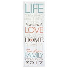 "Personalized ""Love Brings You Home"" Canvas - 9"" x 27"""