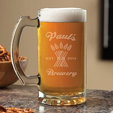 Personalized My Brewery 16 oz. Beer Mug