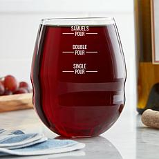 "Personalized ""Perfect Pour"" 26 oz. Colossal Stemless Wine Glass"