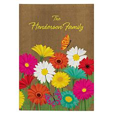 Personalized Spring Flowers Garden Flag
