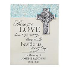"Personalized ""Walk Beside Me"" Memorial Wall Plaque - 7-1/4"" x 9"""