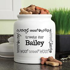 Personalized Woof! Treat Jar