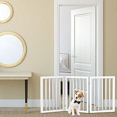 Pet Adobe Freestanding 3-Panel Pet Gate - White