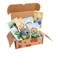 Pet Box with Grain-Free Dog Treats 3-pack with Plush Toy & Waste Bag