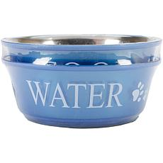 Pet Food and Water Set Medium 1qt - Blue