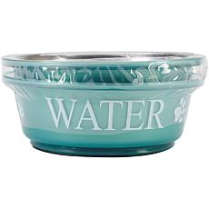Pet Food and Water Set Small 1pt - Teal