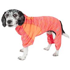 Pet Life Downward Dog Two-Toned Full Body Dog Warmup Suit w/Hoodie
