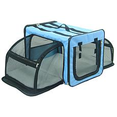 Pet Life Extra-Small Expandable Collapsible Travel Pet Dog Crate