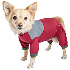 Pet Life LG 4-Way-Stretch Breathable Full Body Dog Track Suit