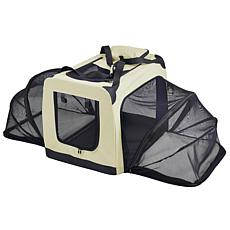 Pet Life Medium Soft Folding Collapsible Expandable Pet Dog Crate