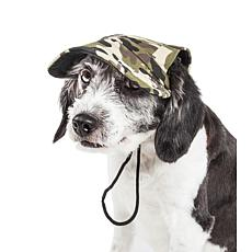 Pet Life Torrential Downfour Camouflage Adjustable Dog Hat - Large